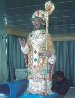 San Nicolás de Bari en un BT italiano.